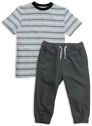 Sovereign Code Boys' Striped Tee & Jogger Pants Set - Baby