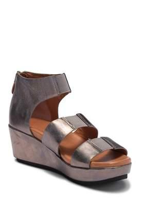 Kenneth Cole Gentle Souls by Milena Leather Wedge Platform Sandal