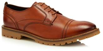 Base London Tan Leather 'Pike' Lace Up Shoes