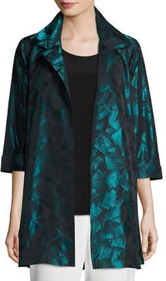 Caroline Rose Brushstroke Jacquard Party Jacket, Plus Size