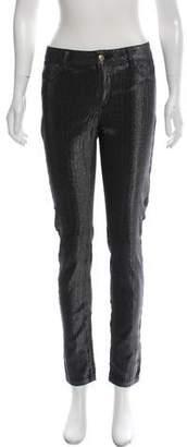 Just Cavalli Metallic Mid-Rise Skinny Jeans