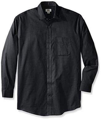 Cutter & Buck Men's Big and Tall Long Sleeve Easy Care Spread Collar Nailshead