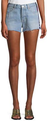Levi's 501 Side-Stripe Frayed Cutoff Shorts