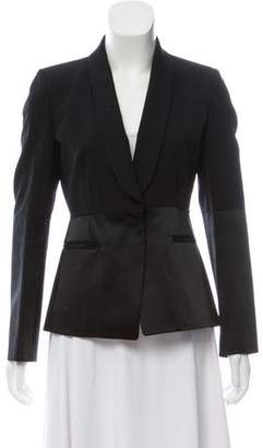 Maison Margiela Virgin Wool Satin-Trimmed Blazer
