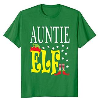 FUNNY AUNTIE ELF T-SHIRT Ugly Christmas Tee
