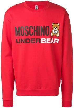 62808c3142 at Farfetch · Moschino Teddy Bear logo sweatshirt