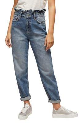 Miss Selfridge Frill-Top Mom Jeans
