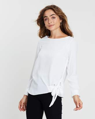 Dorothy Perkins Tie Side Long Sleeve Top