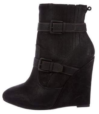 Joie Leather Wedge Ankle Boots
