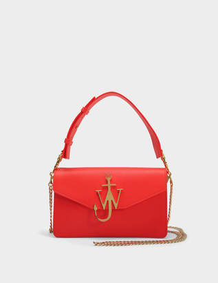 J.W.Anderson Logo PUrse Bag in Scarlet Calf Leather