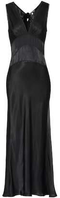 ALEXACHUNG Satin maxi dress