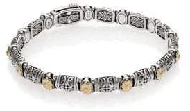 Konstantino Hermione 18K Yellow Gold& Sterling Silver Etched Bracelet
