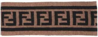 Fendi Ff Wool Jacquard Knit Headband