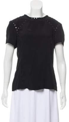 Pam & Gela Silk Embellished Top