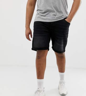 ONLY & SONS denim shorts in regular fit washed black denim