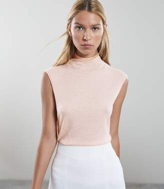 Reiss Purdy - Sleeveless Knitted Top in BLUSH