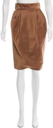 J. Mendel Satin Pencil Skirt