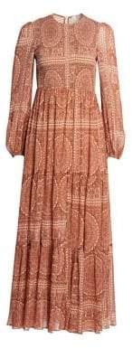 Zimmermann Primrose Cotton Silk Paisley Maxi Dress