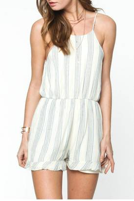 Everly Striped Tie Romper $56 thestylecure.com