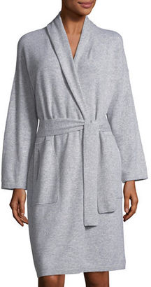 Neiman Marcus Cashmere Collection Cashmere Patch-Pocket Robe $295 thestylecure.com