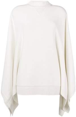 Givenchy draped long-sleeve sweater