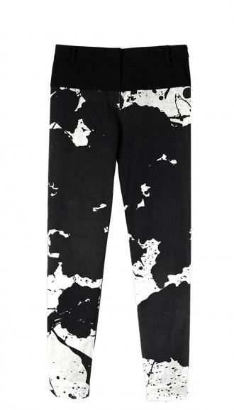 Tibi Paint Splatter Skinny Pant