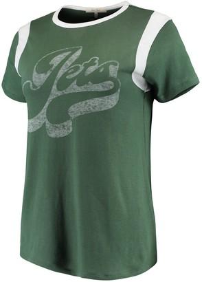 Retro Sport Unbranded Women's Junk Food Green/White New York Jets T-Shirt