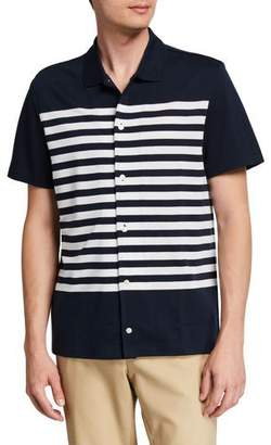 Michael Kors Men's Striped Short-Sleeve Sport Shirt