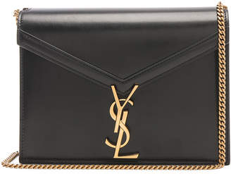 b76a321eb8 Saint Laurent Monogramme Cassandra Crossbody Bag in Black   Rouge Legion
