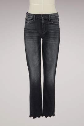 Mother Straight jeans with frayed back pockets