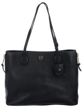 Tory Burch Leather Side-Zip Robinson Tote