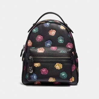 Coach Campus Backpack 23 With Rainbow Rose Print
