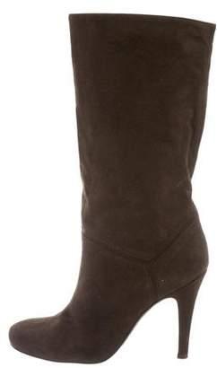 Stella McCartney Vegan Suede Mid-Calf Boots