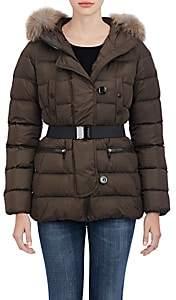 Moncler Women's Genette Fur-Trimmed Puffer Jacket - 829 Olive