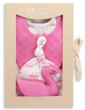 Elegant Baby Baby's Four-Piece Swans Gift Set