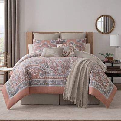Bridge Street Paisley Medallion Full Comforter Set in Spice
