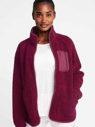 Old Navy Sherpa Zip Jacket for Women