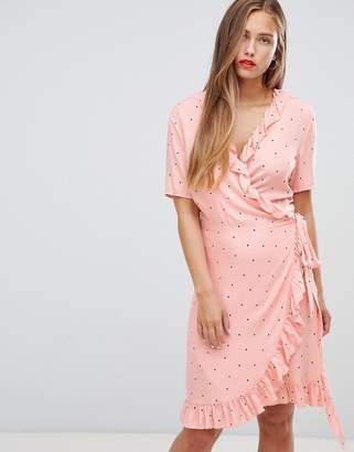 JDY Felicia polka dot wrap dress