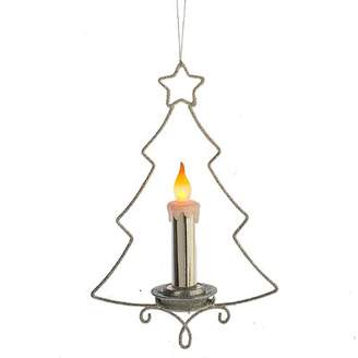 The Holiday Aisle Lighted LED Tree with Candle