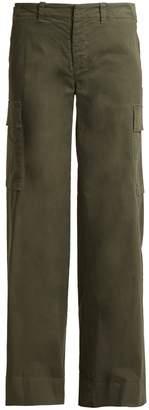 Nili Lotan Harrow wide-leg stretch-cotton cargo trousers
