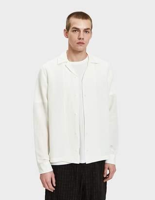 Saturdays NYC Canty LS Batik Dye Shirt in Ivory