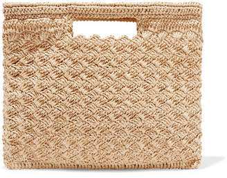 Carrie Forbes Lucy Woven Faux Raffia Tote - Neutral