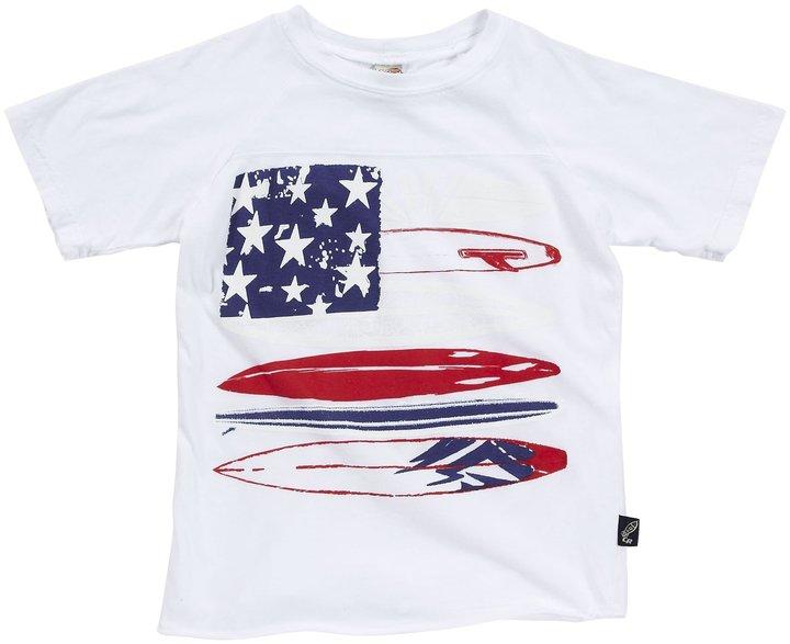 Charlie Rocket Raglan Flag Tee - White - 5