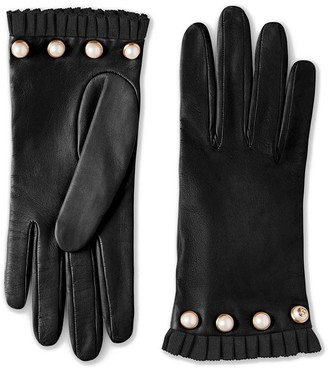 Gucci Studded leather gloves