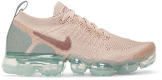 Nike Pink and Blue Air Vapormax Flyknit 2 Sneakers