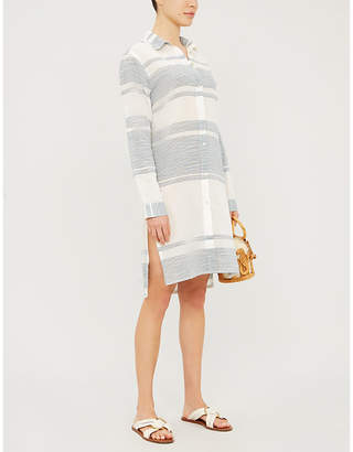 Vix Ada striped cotton shirt dress