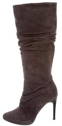 Donald J Pliner Suede Semi-Pointed Knee-High Boots