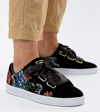 Puma Basket Heart Sneakers With Embrodiery