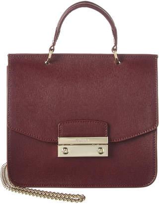 Furla Julia Mini Top Handle Leather Satchel