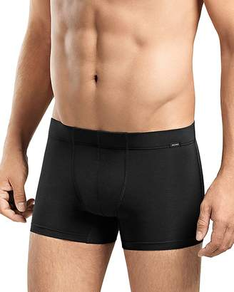Hanro Stretch Cotton Essentials Covered Waistband Boxer Briefs, Pack of 2 $66 thestylecure.com